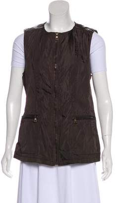 Prada Leather Trimmed Vest
