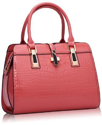 MAISORINE Women¡ ̄s Tote Top Handle Handbags Crocodile Pattern Leather Cross-body Purse Shoulder Bags