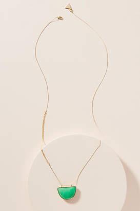 Serefina Beveled Crescent Pendant Necklace