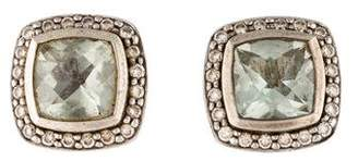David Yurman Prasiolite & Diamond Albion Earrings