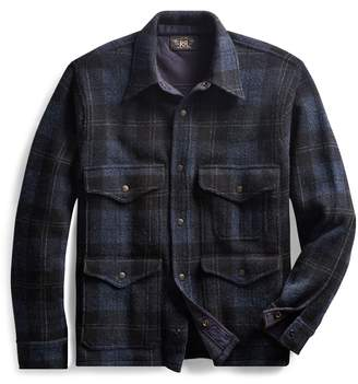 Ralph Lauren Plaid Knit Birdseye Jacket