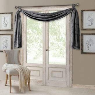 Elrene Home Fashions Darla Geometric Blackout Scarf Valance, 52 x 144