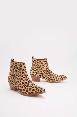 d403d03d4 Nasty Gal Leopard Pony Skin Chelsea Western Boot