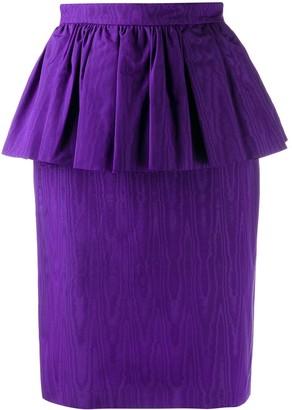 MSGM volant ruffled pencil skirt