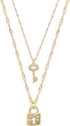 Frasier Sterling Key & Lock Necklace Set