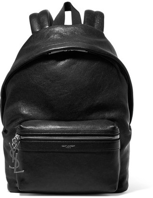 Saint Laurent - Textured-leather Backpack - Black $1,450 thestylecure.com