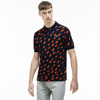 Men's L!ve Brushstroke Mini Piqu Polo Shirt $130 thestylecure.com