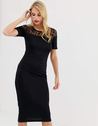 a387edd2bad French Connection Lace Insert Dress - ShopStyle UK