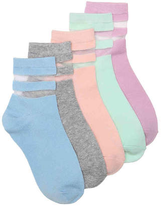 Mix No. 6 Pastel Mesh Ankle Socks - 5 Pack - Women's