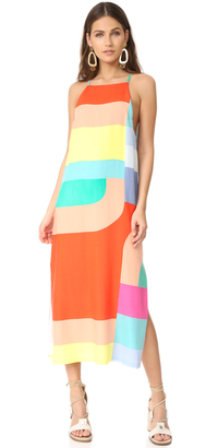 Mara Hoffman Side Slit Midi Dress $325 thestylecure.com