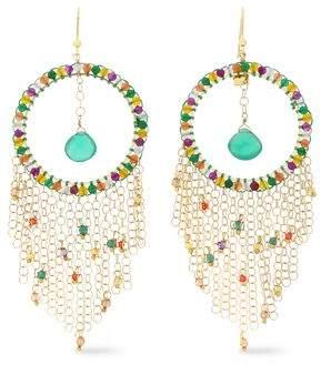 Rosantica Gold-Tone Bead And Crystal Earrings
