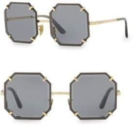 Dolce & Gabbana 55MM Octagonal Sunglasses