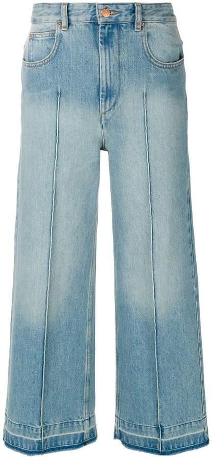 Cropped-Jeans in Stonewash-Optik