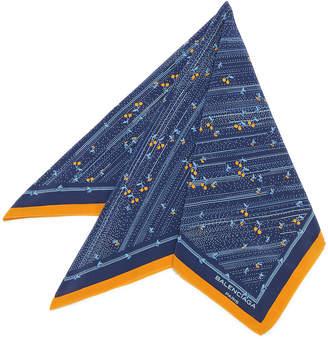 Balenciaga (バレンシアガ) - Luxury Brands Vintage Bags & Accessories BALENCIAGA シルク スカーフ ブルー