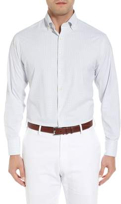 Peter Millar Waldorf Regular Fit Tattersall Performance Sport Shirt