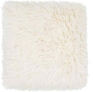 Jaipur Heron Faux Fur Accent Pillow