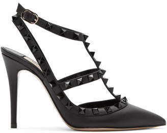 Valentino Black Garavani Tonal Rockstud Heels
