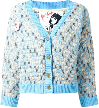 Jenny Fax oversized spot knit cardigan