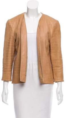 Cushnie et Ochs Embossed Leather Jacket