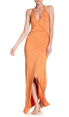 Couture Go Solid Mock Wrap Dress