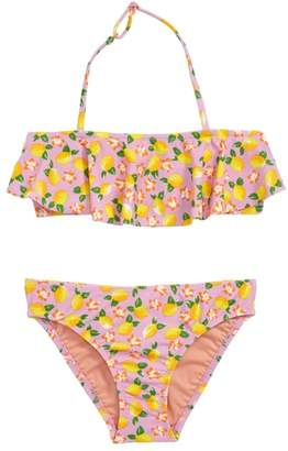 J.Crew crewcuts by Lemon Print Ruffle Two-Piece Swimsuit