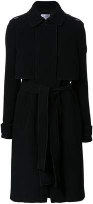 Carven zipped belted coat