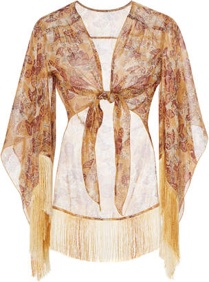 Anna Sui Nightingale Cotton and Lurex Cover-Up