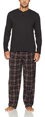 Izod Men's Microfleece Pant and Jersey Henley Pajama Set