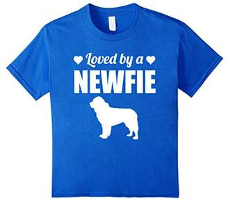 Loved By A Newfie Dog Silhouette T-Shirt