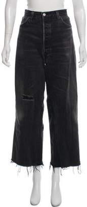 RE/DONE Distressed Wide-Leg Jeans