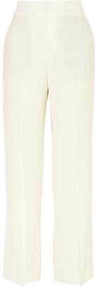 Lanvin - Stretch-crepe Wide-leg Pants - Ivory $1,090 thestylecure.com