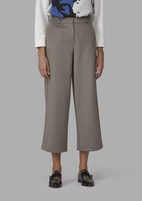 Giorgio Armani Wool And Angora Drap Cropped Trousers