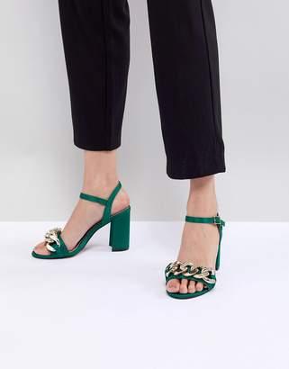 Asos DESIGN Hawk Chain Block Heeled Sandals