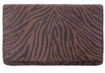 Philomena Clutch in Brown Zebra, Green Zebra or Grey Zebra