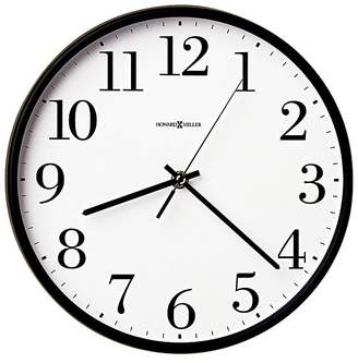 Howard Miller Office Mate Wall Clock, Black, 27cm