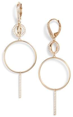 Nadri Cubic Zirconia Hoop Drop Earrings