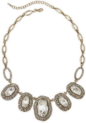 Natasha Accessories Natasha Antique-Style Stone Statement Necklace