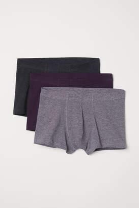 H&M 3-pack Short Boxer Shorts - Purple