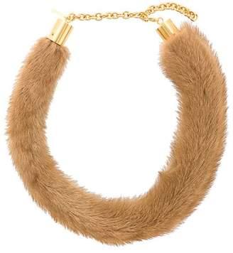Marni mink fur necklace