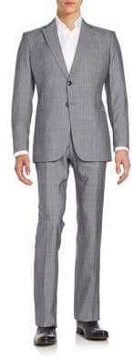 Giorgio Armani Regular-Fit Plaid Wool & Silk Suit