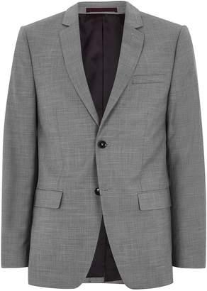 Topman Grey Marl Slim Fit Suit Jacket