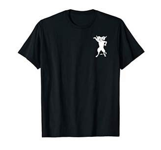 Devil Goat Demon T-Shirt Satan Side Pocket Print Tee