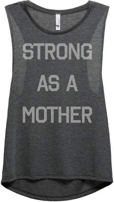 Thread Tank Strong As A Mother Women's Fashion Sleeveless Muscle Tank Top Tee Grey