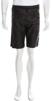 Barneys New York Barney's New York Leather Jogger Shorts