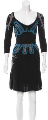 Temperley London Abstract Print Knit Dress
