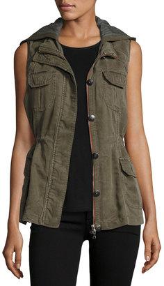 Raison D'etre Twill Drawstring Cargo Vest $106 thestylecure.com