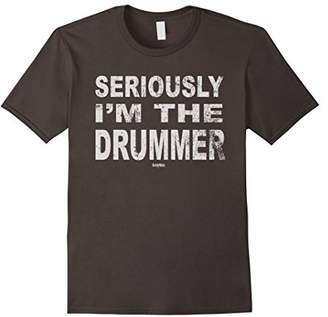 Seriously I'm the Drummer T-shirt - Funny music drums tshirt