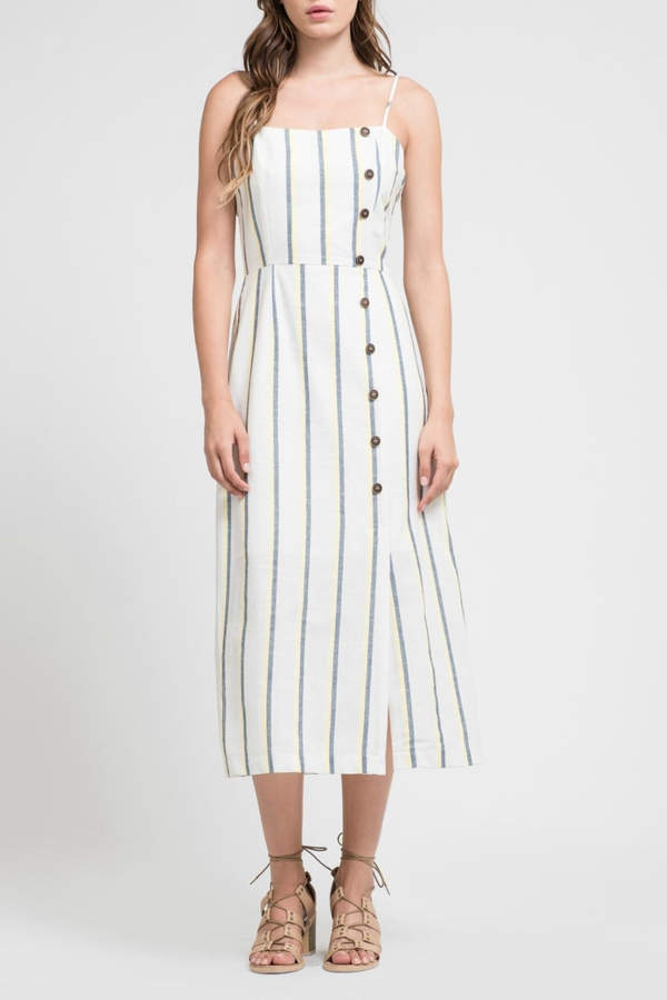 J.o.a. Striped Maxi Dress
