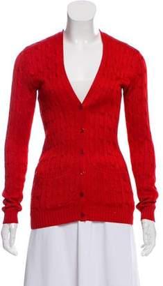 Ralph Lauren Cable-Knit Silk Cardigan