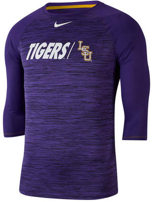 Nike Men Lsu Tigers Legend Three-Quarter Sleeve Raglan T-Shirt